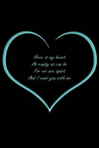 Empty Heart Blue