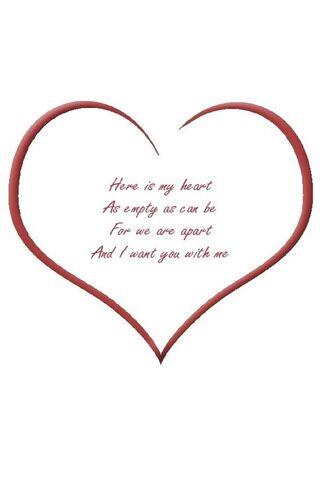 Empty Heart Red