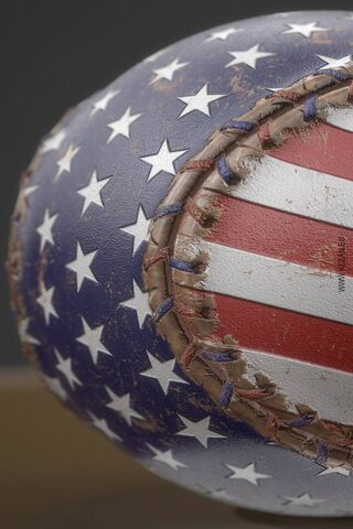 Baseball - Us Flag