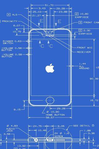 Iphone 5 Blueprint Wallpaper - Download