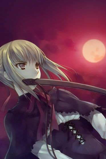 Full Moon Girl With Sword