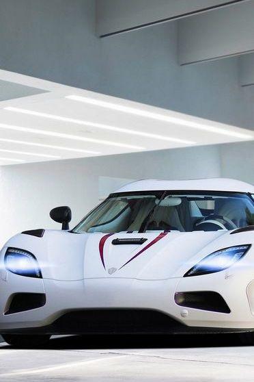 White Koenigsegg