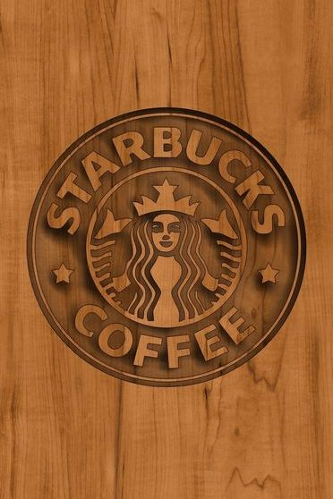 Logotipo de Starbucks Wood