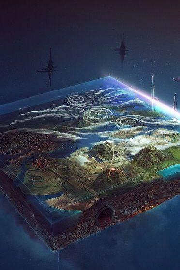 Tierra en cuadrado