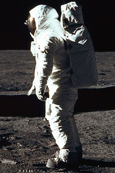 Buzz Aldrin On Moon