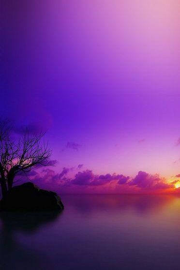 Malediwski zachód słońca