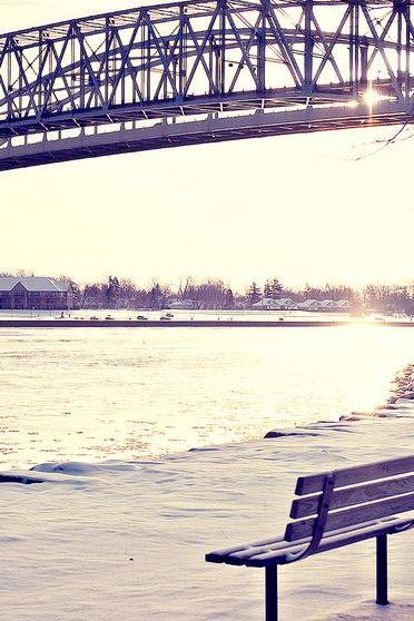 Bench And Bridge