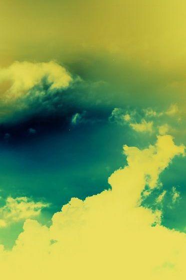 Жовтий захід сонця