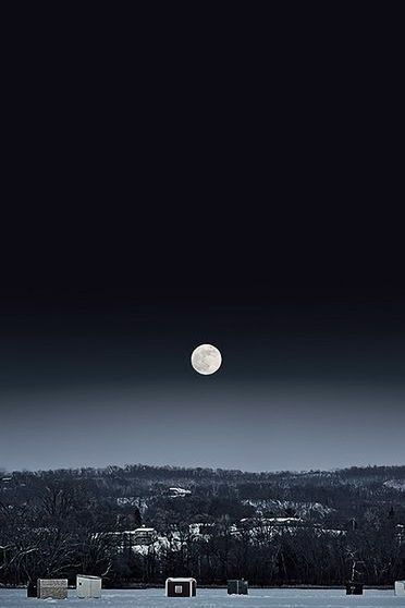 Night Sky White Moon