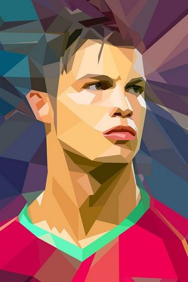 Abstract Cristiano Ronaldo
