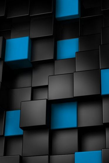Abstract-Blue-and-Black-Cubes