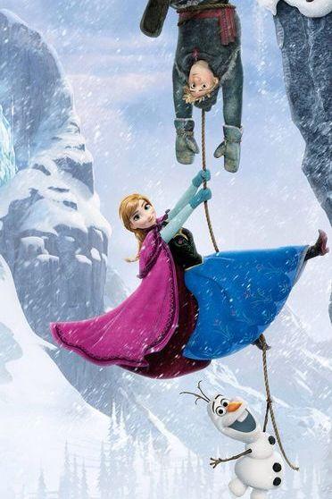 冷凍ディズニーアンナ、クリソフ、オラフ