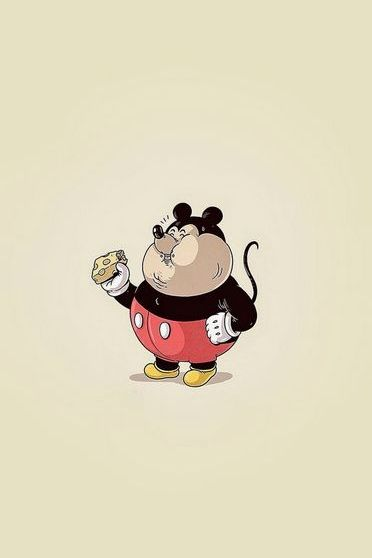 Fat Mickey Mouse