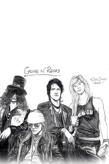Guns And Roses Illust