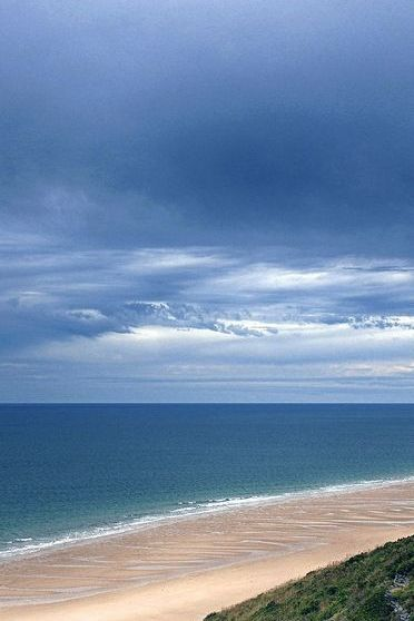 Dark Sky Blue Ocean