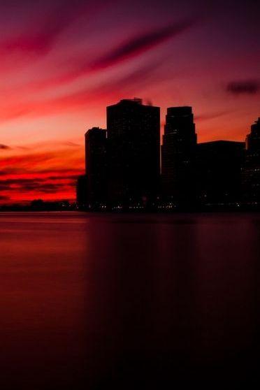 Pôr do sol vermelho