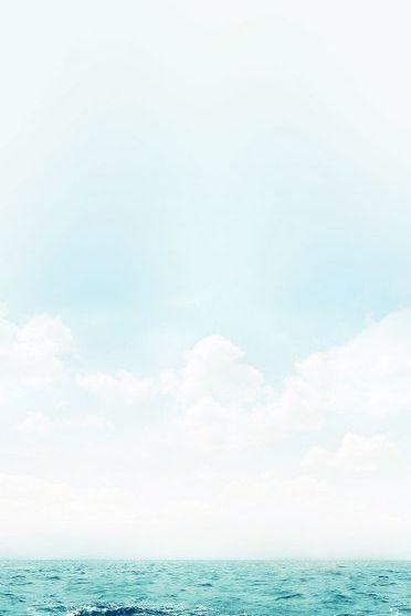 Ocean Green Blue Sky