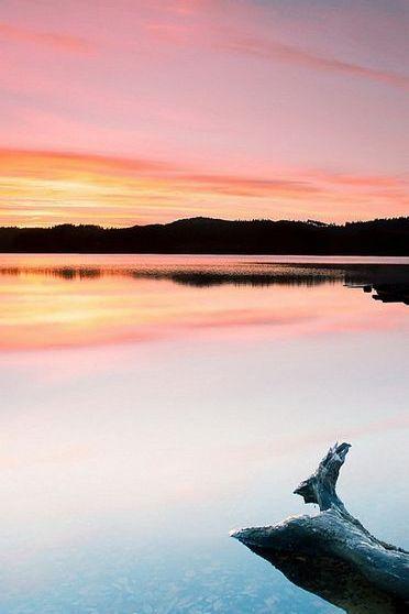 Закат озера