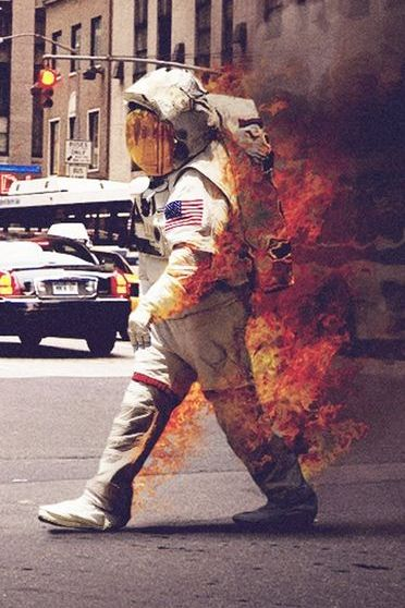 Burning Astronaut