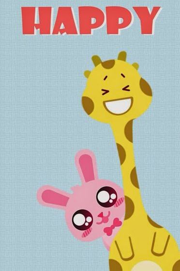 Happy Bunny And Giraffe