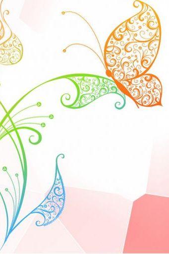 زهرة الفراشة المتجهات الزجاج المعشق