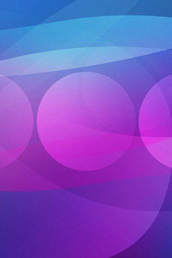 Blue Circles Pink Line