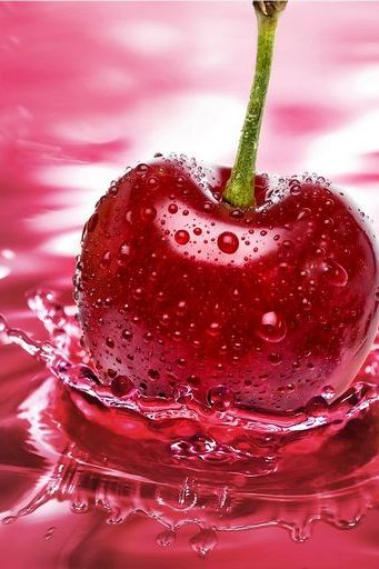 Apple In Pink Water