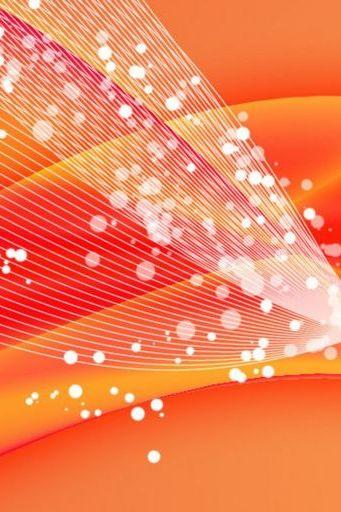 Orange Pink Lines Bubbles Bends