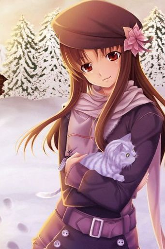 Anime Girl Winter Snow