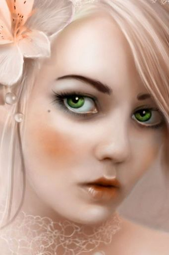 Girl Blonde Eyes Flower