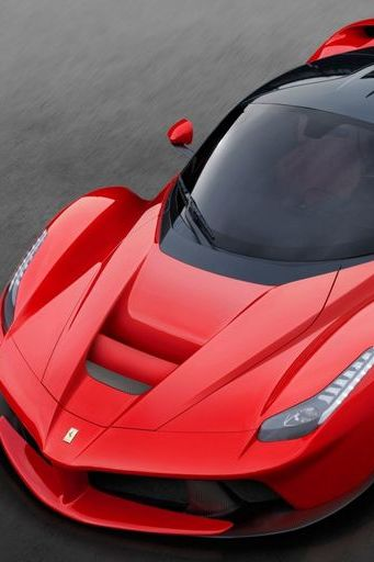 Red Ferrari Laferrari 2013 Luxury Car