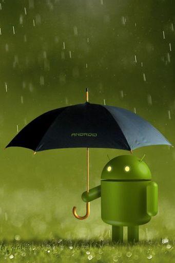 Android Logo Rain