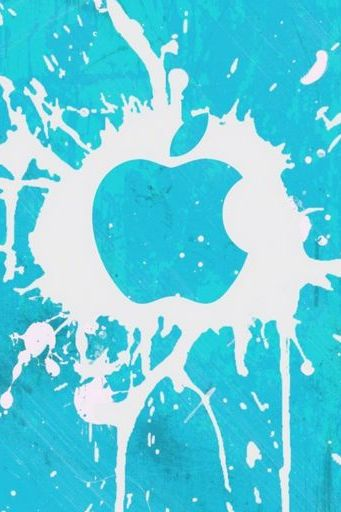 Apple Spray Blot White Blue