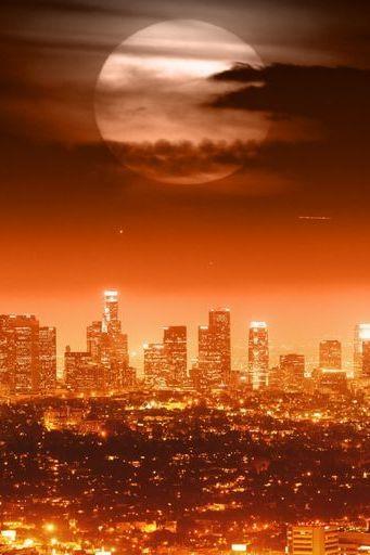Full Moon Above Los Angeles