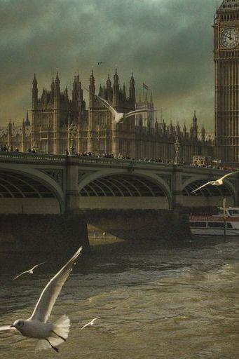 Dramatic Big Ben And Seagulls
