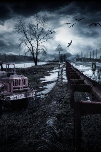 Horror Night Landscape