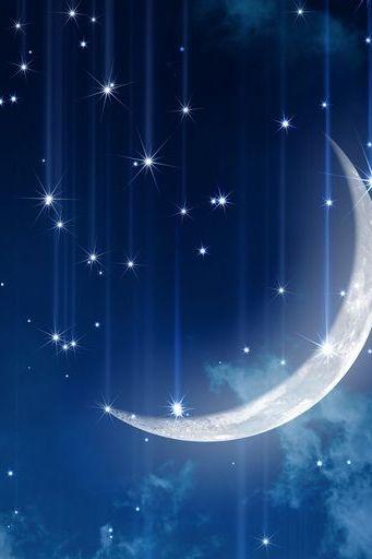 الفضاء النجوم القمر