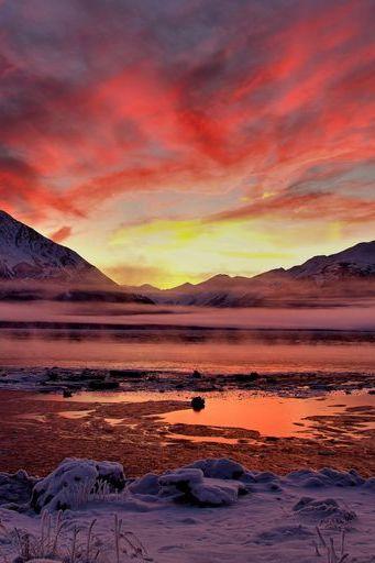 Dämmerung Alaska