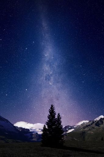 Swiss Alps Night Sky
