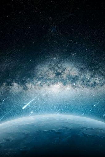 Space Meteorite Planet Rain