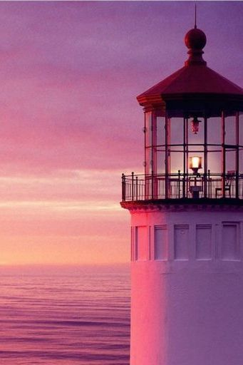 Sunset Sea Lighthouse