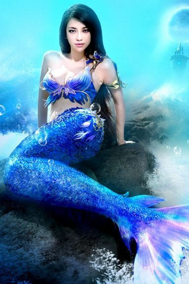 Misterious Blue Mermaid