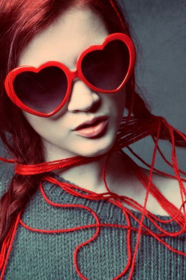 Glasses Red Love