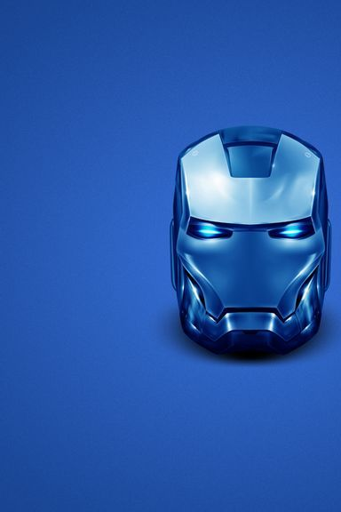 Iron Man In Blue