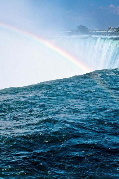 Waterfall-And-Rainbow-