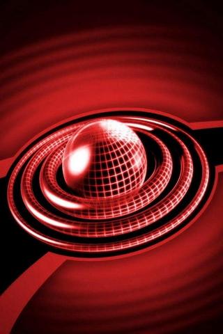 Bola círculo vermelho