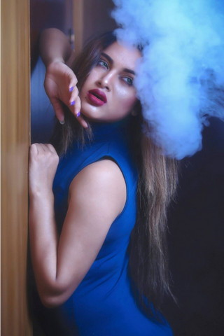 Girl With Smoke