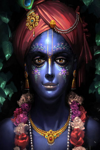 Dark Blue Krishna