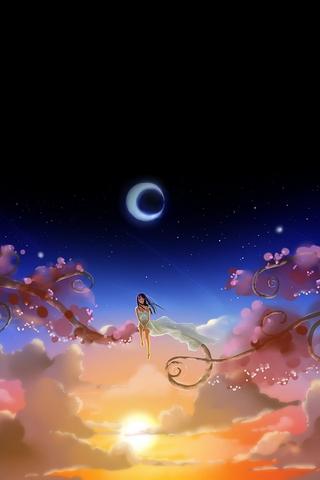 Anime Girl Dreamy Moon