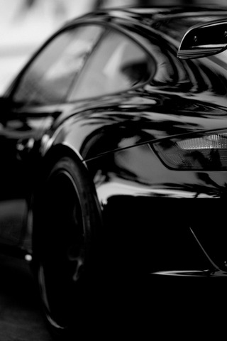 Beautiful Black Porsche Car